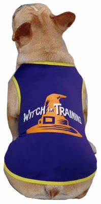 Casual Canine Witch in Training Tee Purple - LARGE