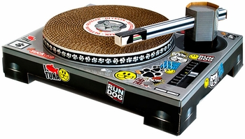 Cat DJ Scratching Deck