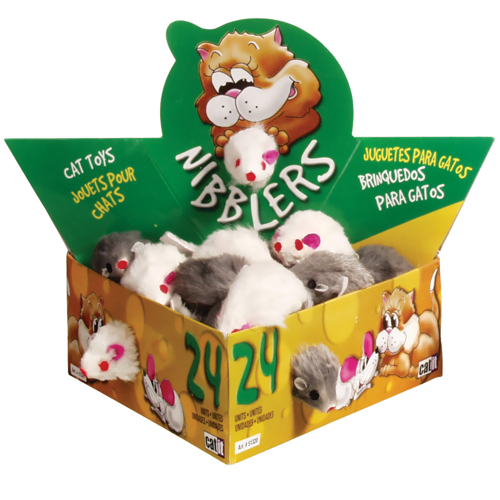 Catit Fur Mouse (24/Box) - Small