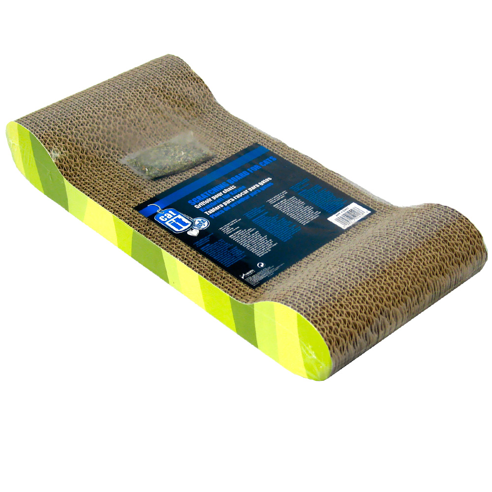 Catit Style Scratching Board with Catnip for Cats - Lounge