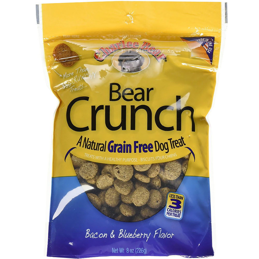 Charlee Bear Dog Treats - Bear Crunch with Bacon & Blueberry (8 oz)