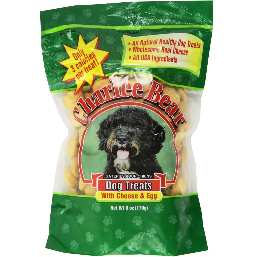 Charlee Bear Dog Treats with Cheese & Egg - 6 oz