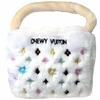 Chewy Vuiton Purse Toy (White) - Large