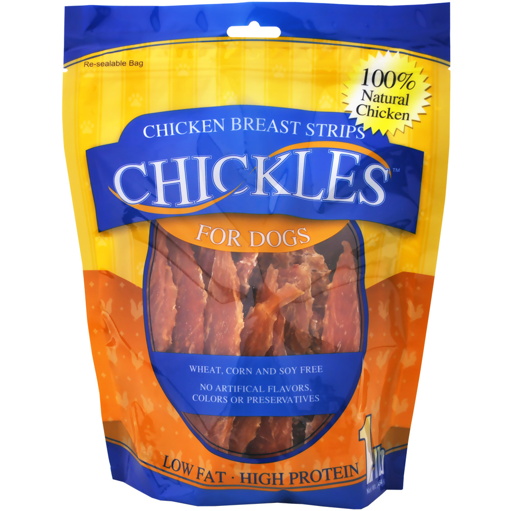 Chickles Chicken Breast Fillets for Dogs (1 lb)