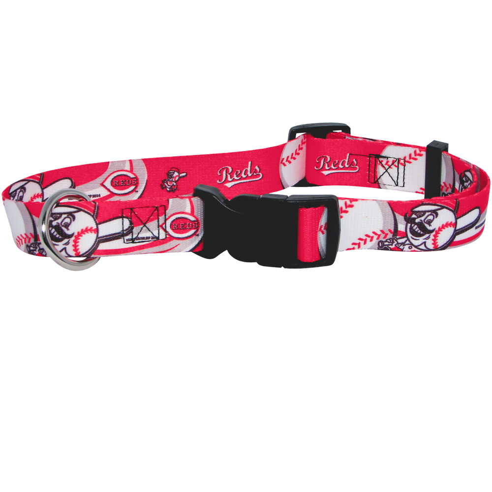 Cincinnati Reds Dog Collars & Leashes
