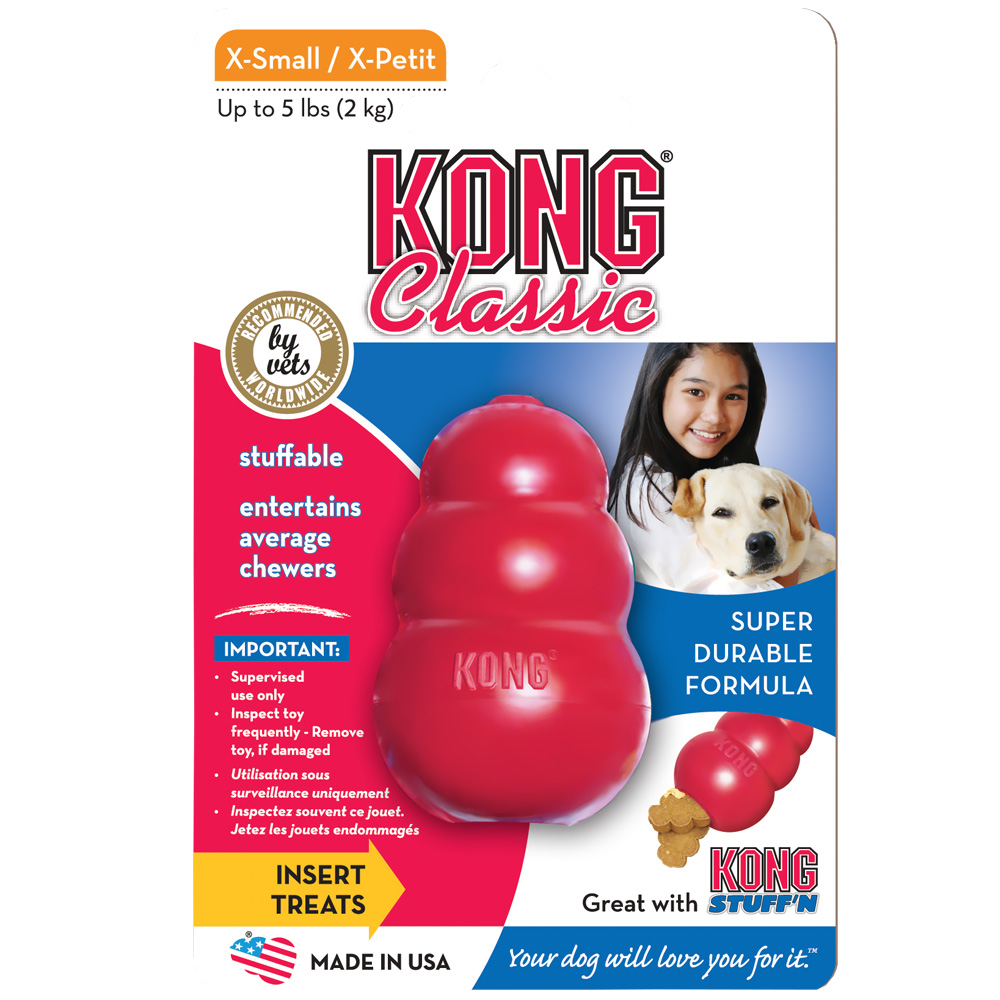 CLASSIC KONG Extra Small for Small Dogs & Cats