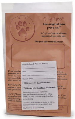 Claypaws Paw Print Kit White Clay