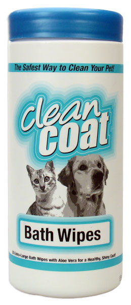Clean Coat Bath Wipes (30 ct)
