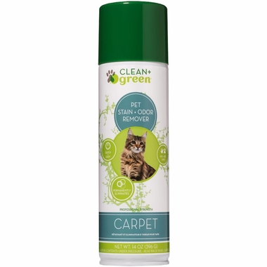 Clean & Green Carpet  Odor Eliminator, Cleaner & Stain Remover for Cats (16 oz)