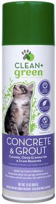 Clean & Green Concrete & Grout ,Odor Eliminator, Cleaner and Stain Remover for Cats (16 oz)