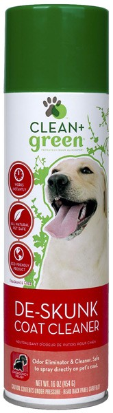Clean & Green De-Skunk Coat Cleaner and Odor Eliminator for Dogs (16 oz)