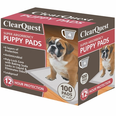ClearQuest Super-Absorbent Puppy Pads (22