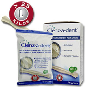 Clenz A Dent  Dental Chew Sticks Large (4 bags x 6 chews)
