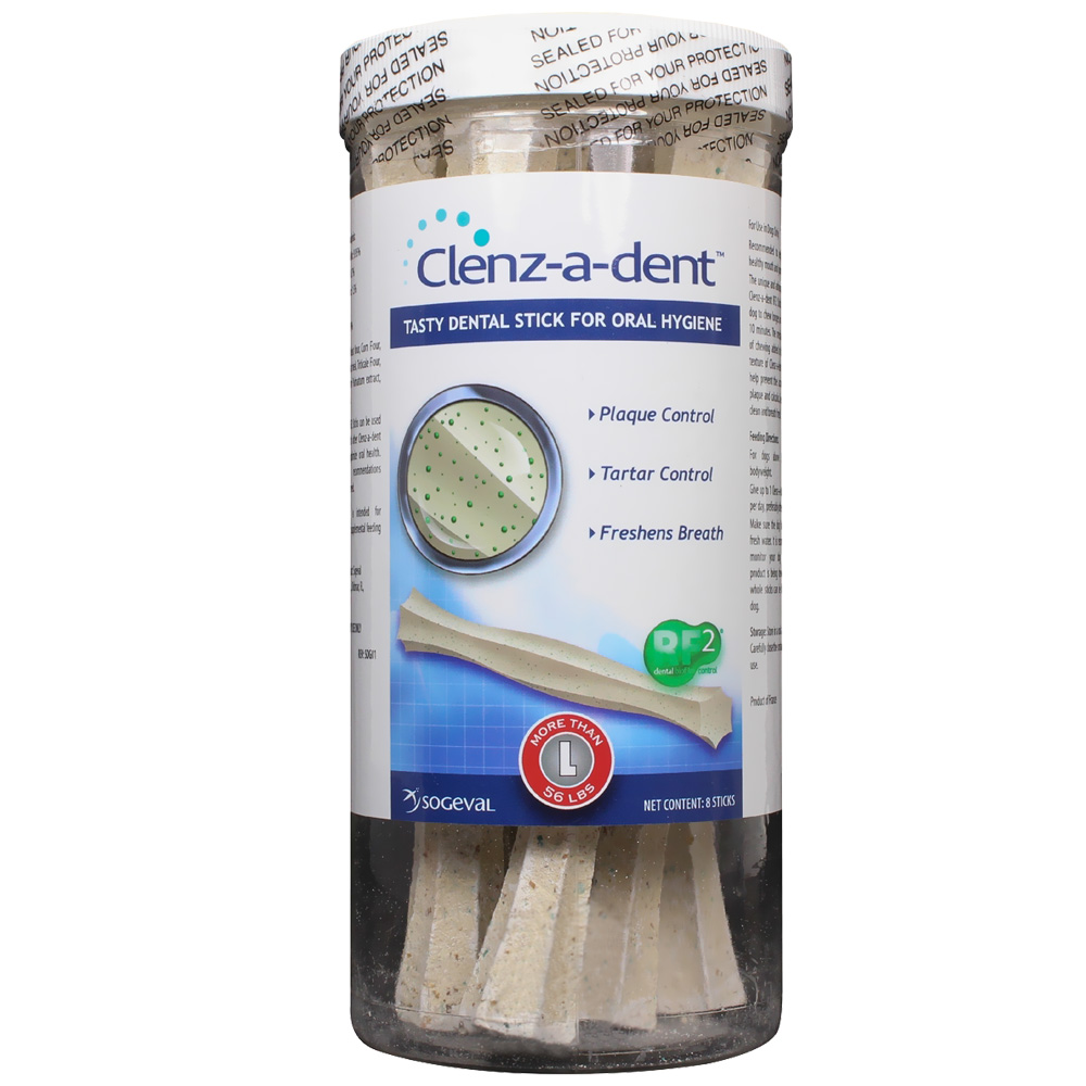 Clenz-A-Dent Dental Chew Sticks Large (8 chews)