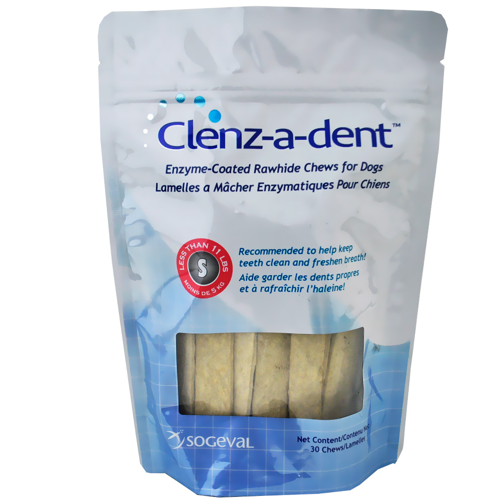 Clenz-a-dent Rawhide Chews for Dogs - Small (30 ct)