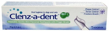 Clenz A Dent  Toothpaste w/ Finger Brush - Vanilla Mint (70 gm)