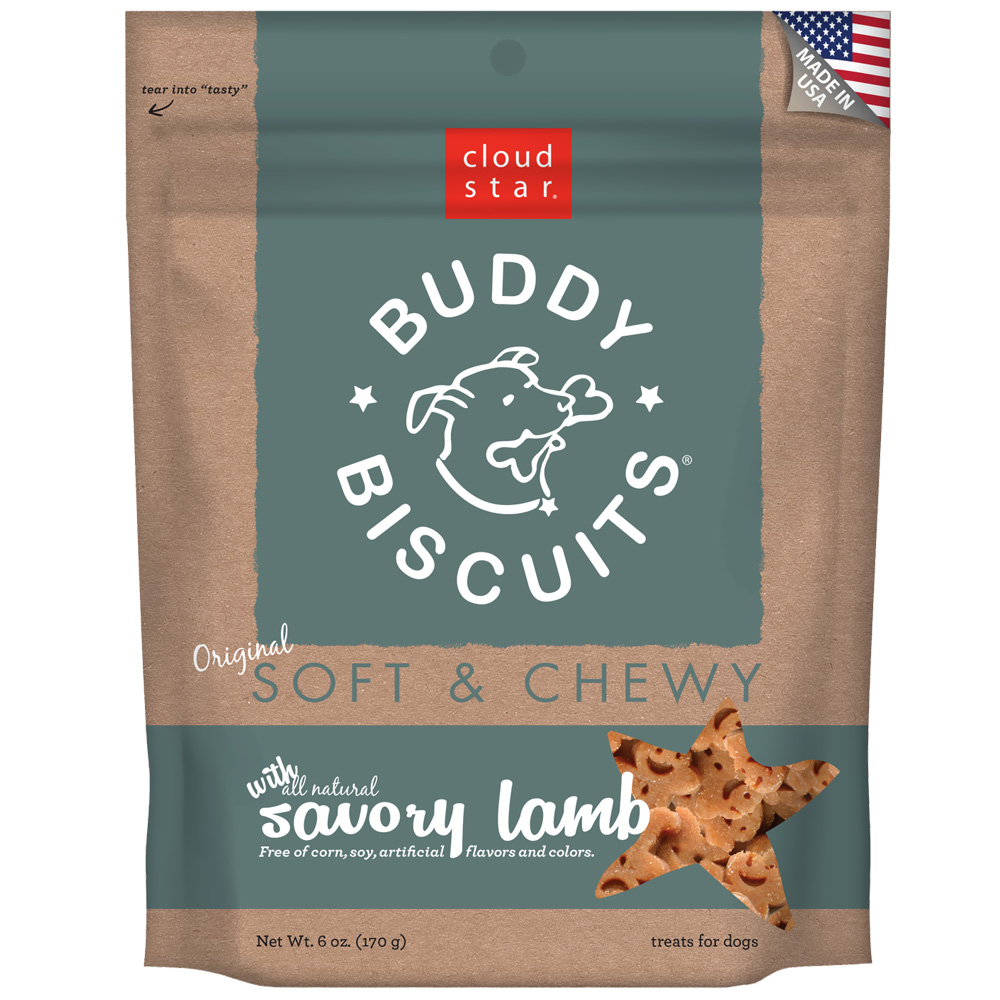 Cloud Star Buddy Biscuits Soft & Chewy Dog Treats - Lamb Flavor (6 oz)