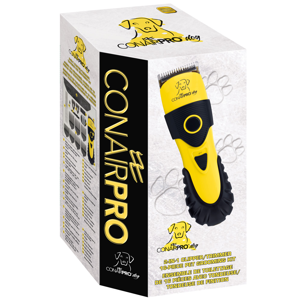 ConairPro 2-IN-1 Clipper/Trimmer 16 Piece Pet Grooming Kit
