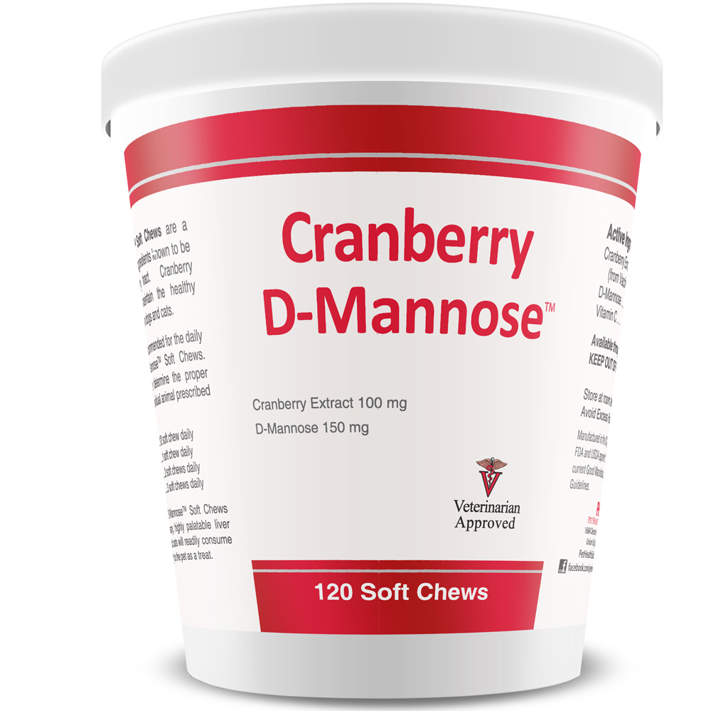 Cranberry D-Mannose™ Urinary Tract Support (120 Soft Chews)