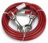 Cruising Companion Cable Tie Out for Dogs up to 150 lbs Red (15 Feet)