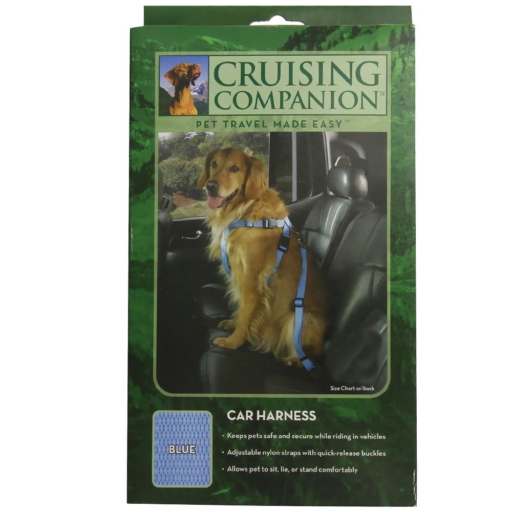 Cruising Companion Car Harness Blue - Large