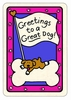 "Crunch Card ""Greetings to a Great Dog"""