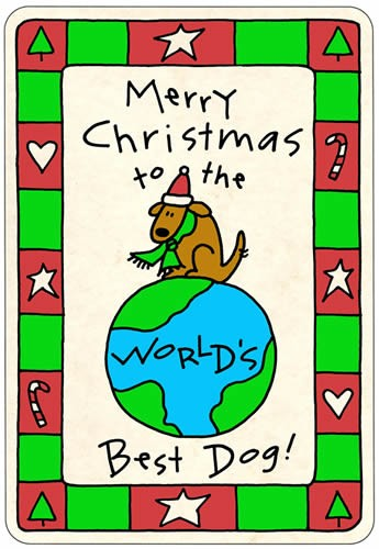 "Crunch Card ""Merry Christmas to the World's Best Dog"""