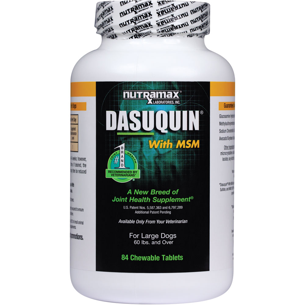 Dasuquin for Large Dogs 60 lbs. & over with MSM (84 Chewable Tabs)