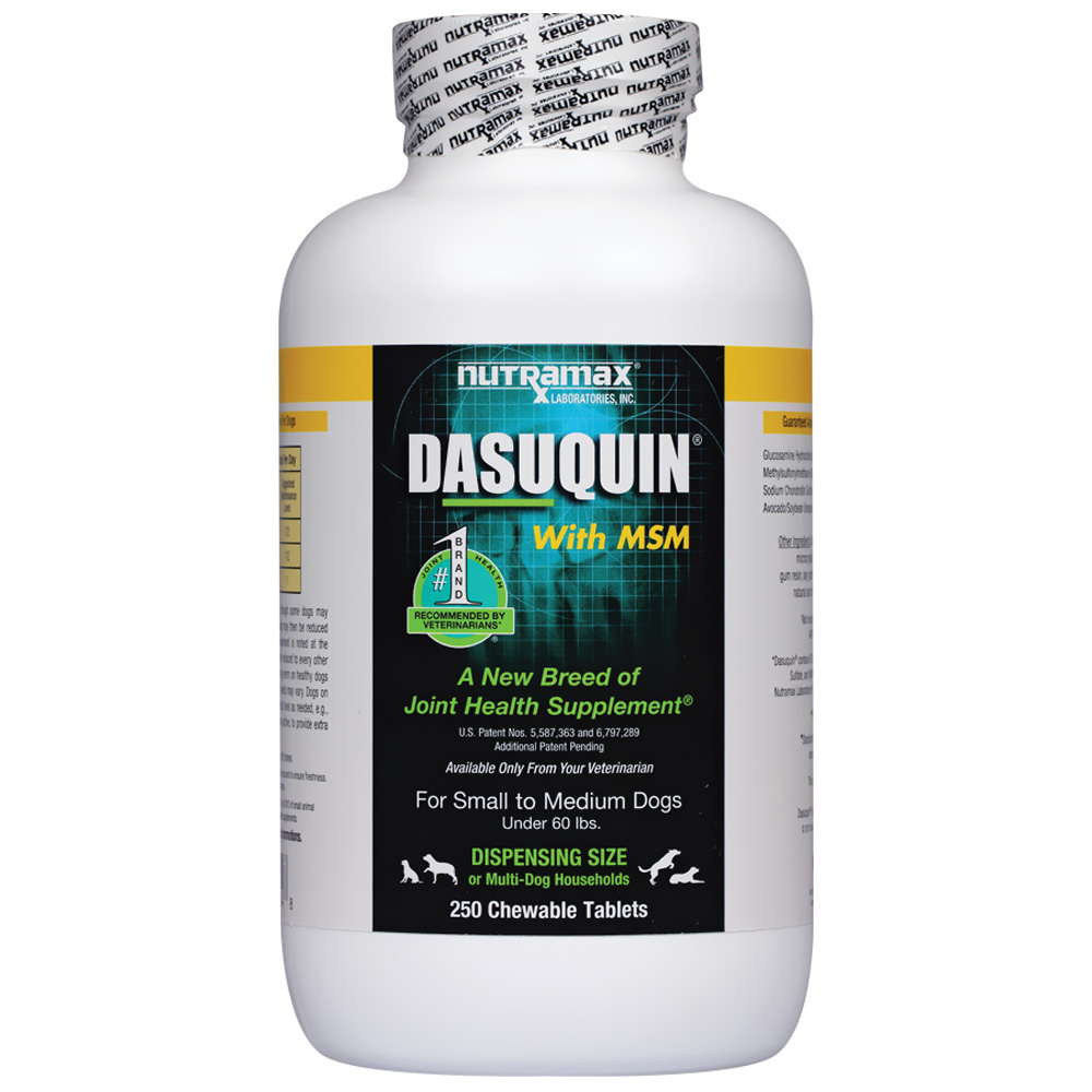 Dasuquin for Small/Medium Dogs under 60 lbs. with MSM (250 Chews)