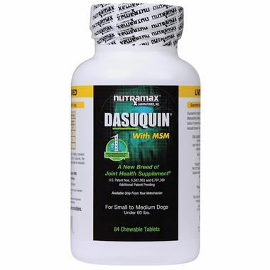 Dasuquin for Small/Medium Dogs under 60 lbs. with MSM (84 Chewable Tabs)