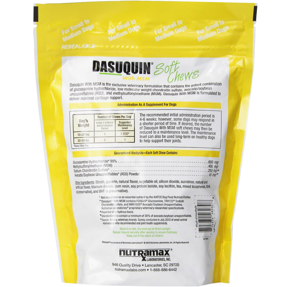 Nutramax Dasuquin With Msm Soft Chews For Small Dogs