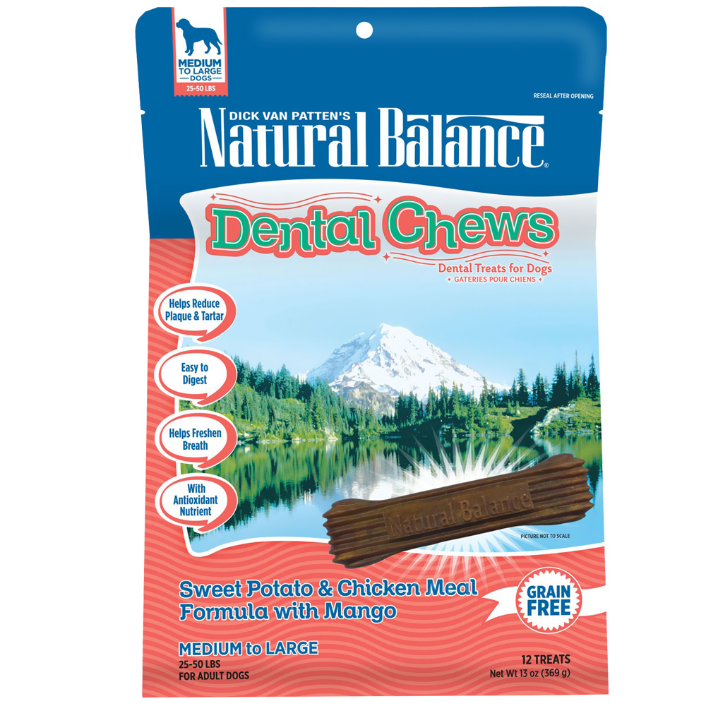 Dental Chews Sweet Potato & Chicken with Mango - Regular (13 oz)