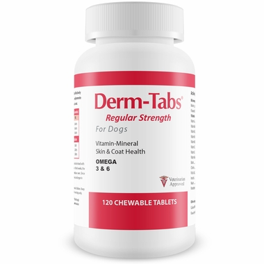 Derm-Tabs Regular Strength for Dogs (120 Chewable Tablets)
