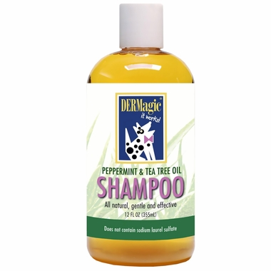 DERMagic Peppermint & Tea Tree Oil Shampoo (12 oz)