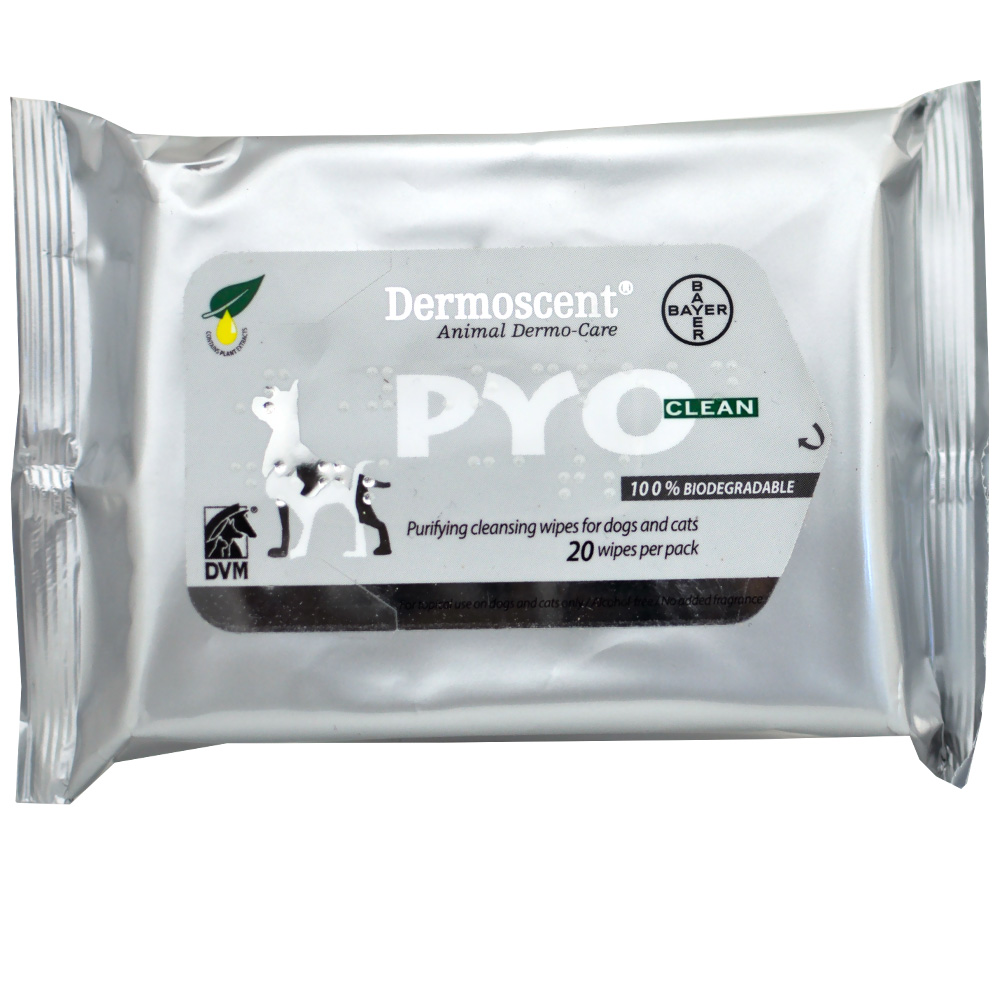 Dermoscent® Pyoclean Wipes For Dogs & Cats (20 Count)