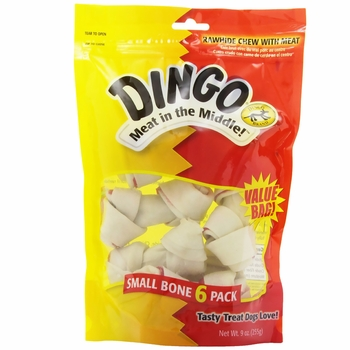 Dingo Bone Small White 6-PACK Value Bag (9 oz)