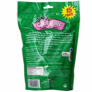 "Dingo Goof Balls Small Chews 1.5"" 15-PACK Value Bag (4.8 oz)"