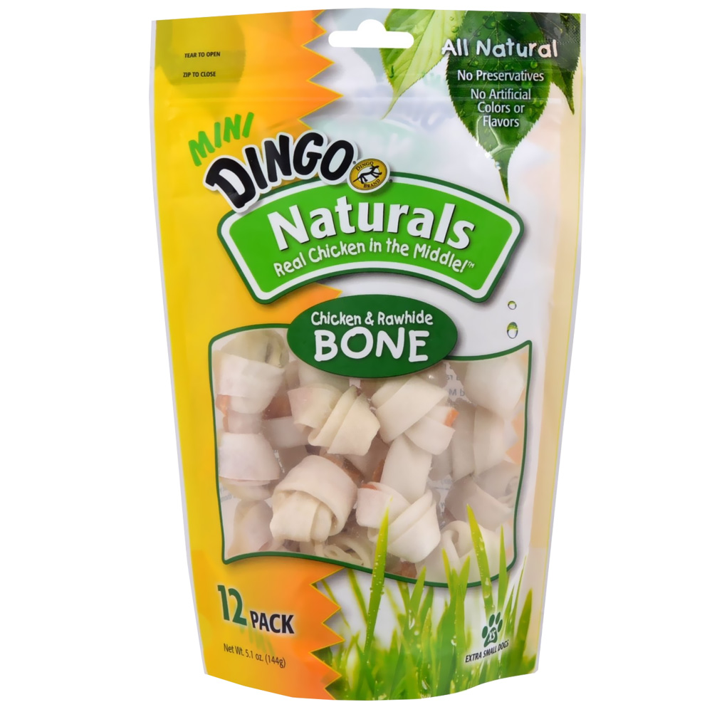 Dingo Naturals Mini Bone (12 pack)