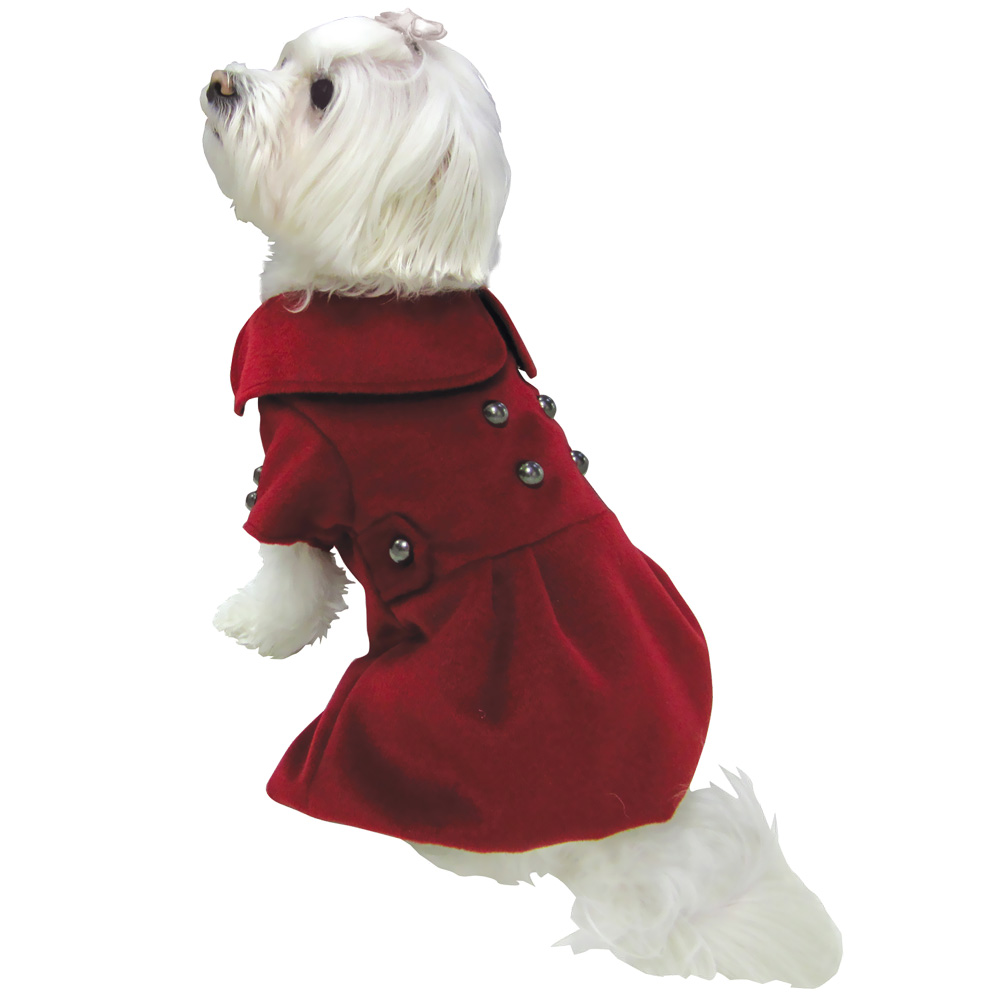 Dogit Military Peacoat Red - Large