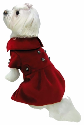 Dogit Military Peacoat Red - Small