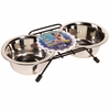 Dogit Stainless Steel Double Diner Dish (13.5 oz) - Small