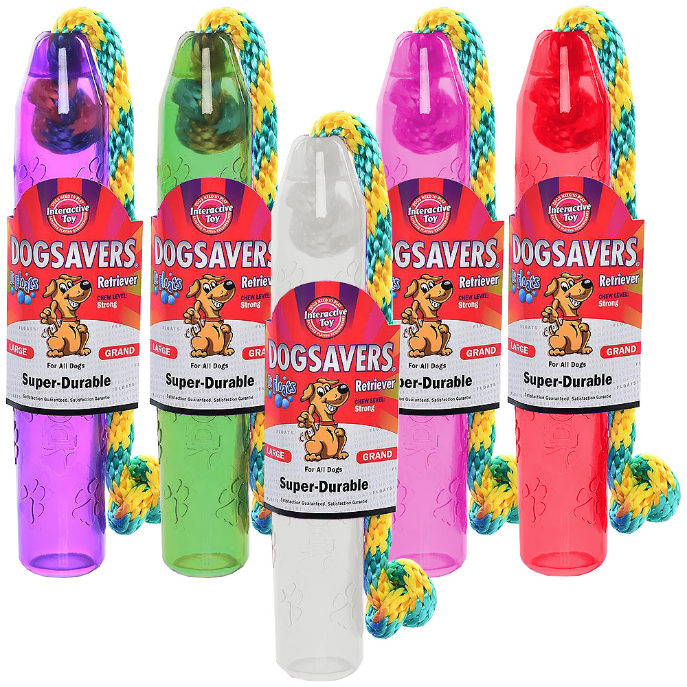 "Dogsavers Retriever with Rope Large 11"" (Assorted)"