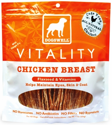 Dogswell Vitality Chicken Breast Treats (15 oz)