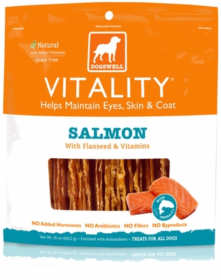 Dogswell Vitality Salmon Treats (15 oz)