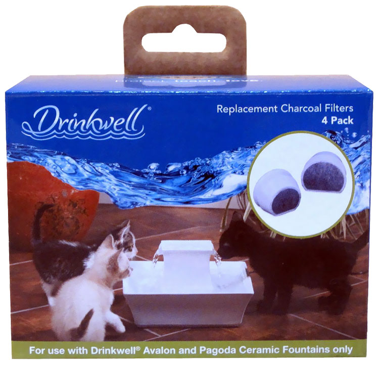 Drinkwell Charcoal Replacement Filters (4 Pack)