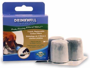Drinkwell Hy-Drate H2O Filtration System Filters (3 pack)