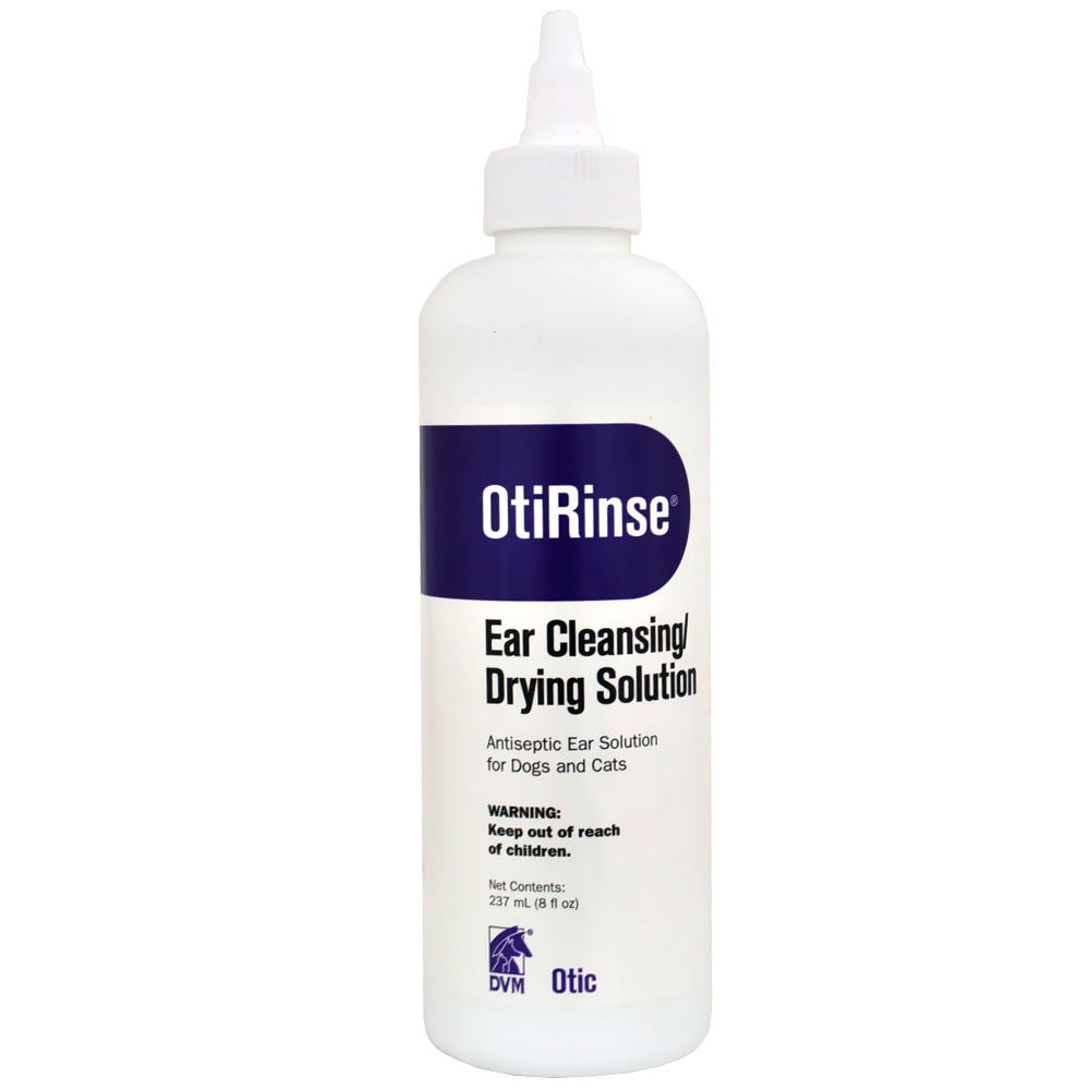 DVM OtiRinse Cleansing/Drying Ear solution (8 oz)