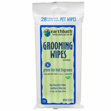 Earthbath Green Tea Leaf Grooming Wipes (28 ct)