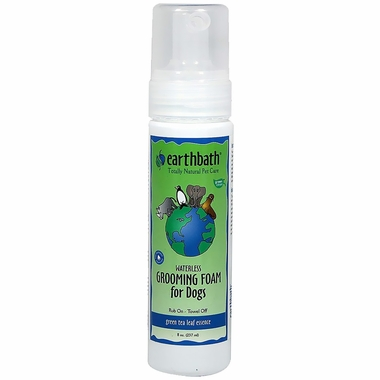 Earthbath Green Tea Waterless Grooming Foam for Dogs (7.5 oz)