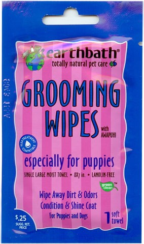 Earthbath Grooming Wipes for Puppies FREE SAMPLE